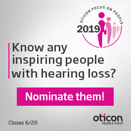 Call for nominations for 2019 Oticon Focus on People awards