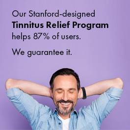 Tinnitus relief program helps 87% users