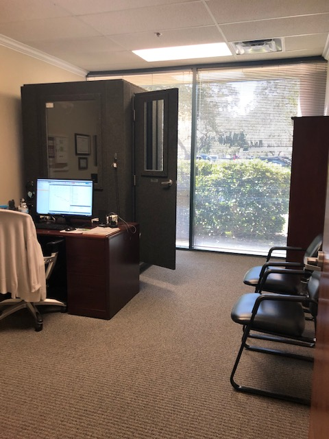 Testing area of Audiology and Hearing Center of Tampa - Tampa Palms