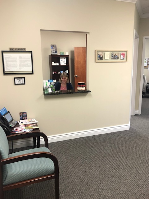 Reception area of Audiology and Hearing Center of Tampa - Tampa Palms