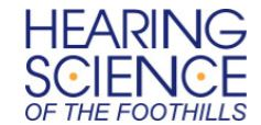 Hearing Science of the Foothills logo