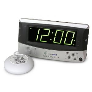 image of an alerting alarm clock