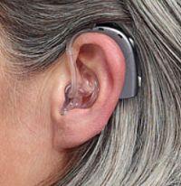 Derrière l'oreille avec Aide auditive à écouteurs