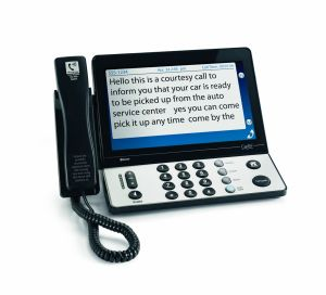 CapTel's large text captioned phone