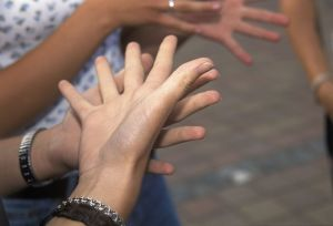 hands signing