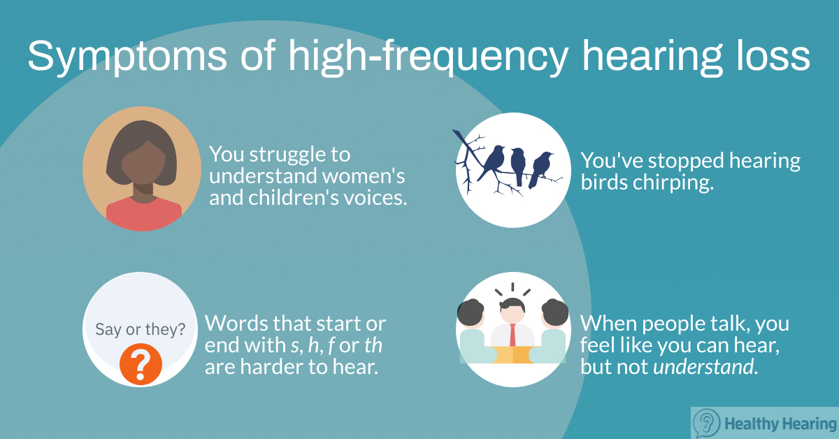 Symptoms of high-frequency hearing loss