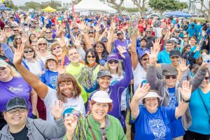 Happy participants at a 2016 Walk4Hearing
