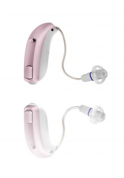 agil pink hearing aids
