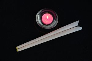 ear candles and votive candle