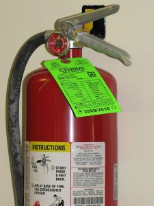 fire extinguisher and hearing loss