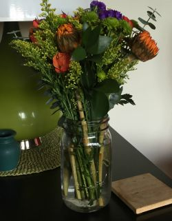 vase of fresh flowers