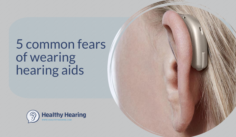 Illustration of 5 common hearing aid fears