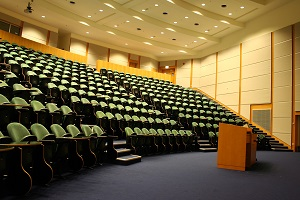 FM systems are often used in lecture halls.