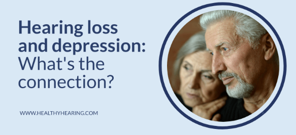 Illustration that says hearing loss and depression -what's the connection?