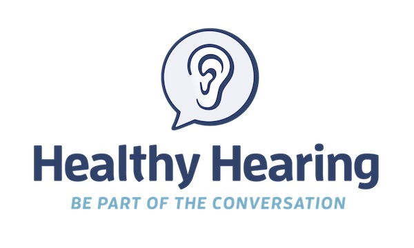healthy hearing stacked logo