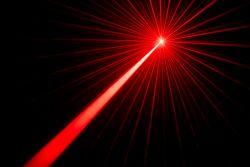 Red laser beam