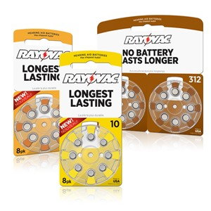 Rayovac makes hearing aid batteries